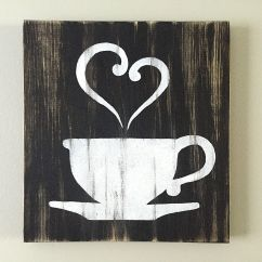 Artwork For Kitchen Replacing A Sink Decor Coffee Tea Cup