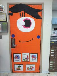 Class dojo orange teacher monster classroom door ...