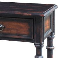 Hand-painted Distressed Black/ Brown Finish Accent Console ...