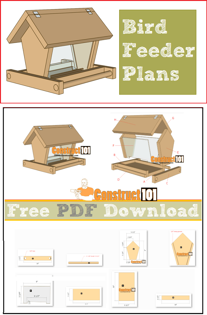 Build a Bird Feeder  PDF Download  Bird feeder plans