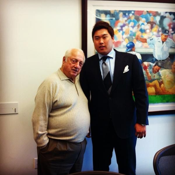 An Official Welcome For Hyun Jin Ryu From TommyLasorda Dodgers