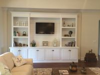 Built-in bookcase with shiplap back | Pallet TV Stands ...