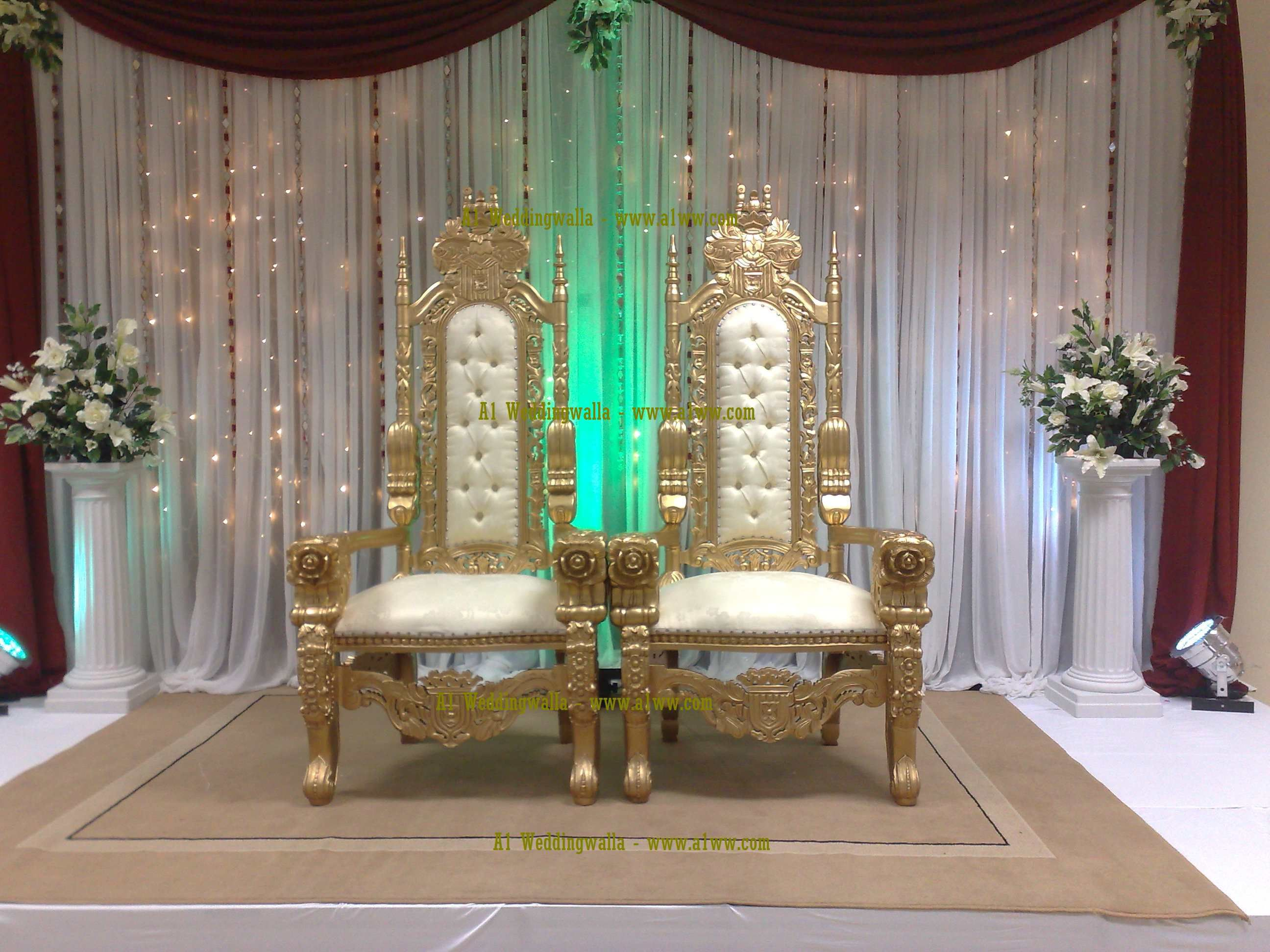 wedding sofa picasso corner chaise white leather royal chairs for sale furniture hire