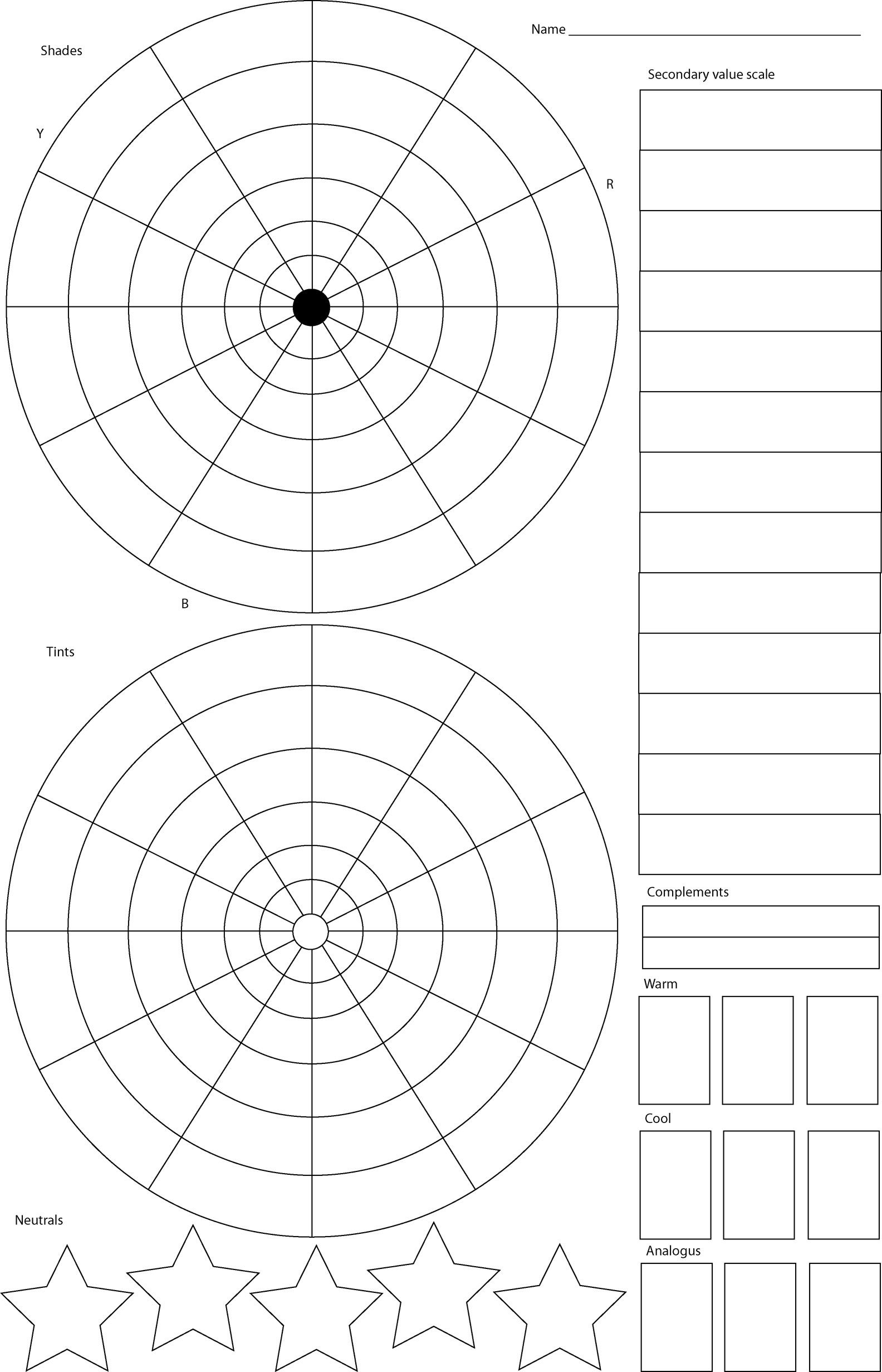 Color Wheel Worksheet