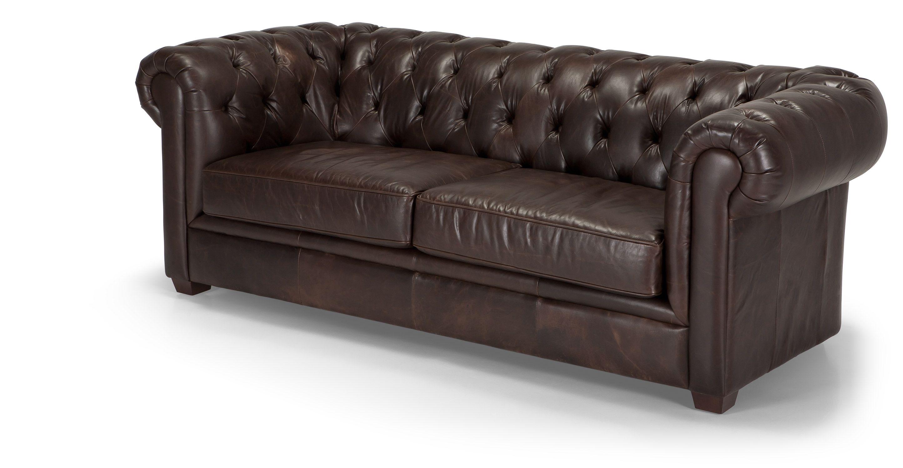 retro sofas fulham sofa sleeper with memory foam mattress mayson chesterfield 3 seater antique brown premium