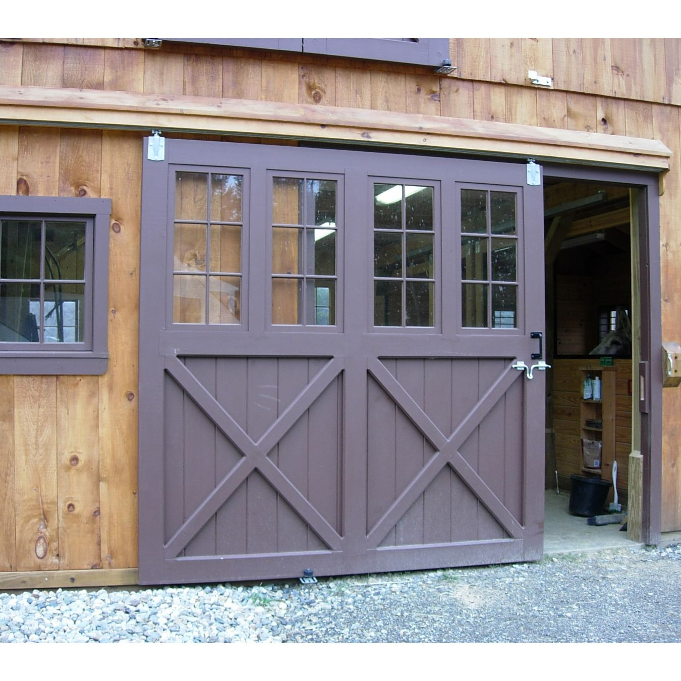 Sliding Barn Doorn with Glass