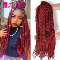 box braid crochet hair extensions hairpieces for women box ...
