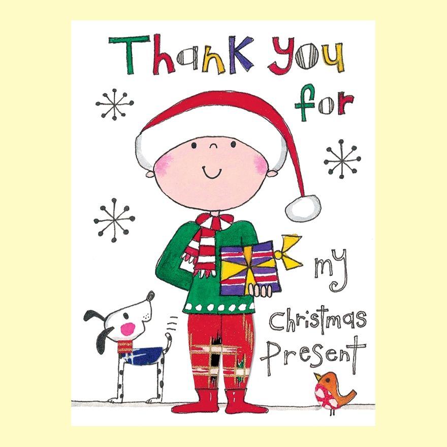 Rachel Ellen Pack Of 5 Thank You For My Christmas Present