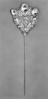 shawl pin, silver, south america, 19th century - from the ...