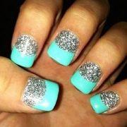 turquoise acrylic nails