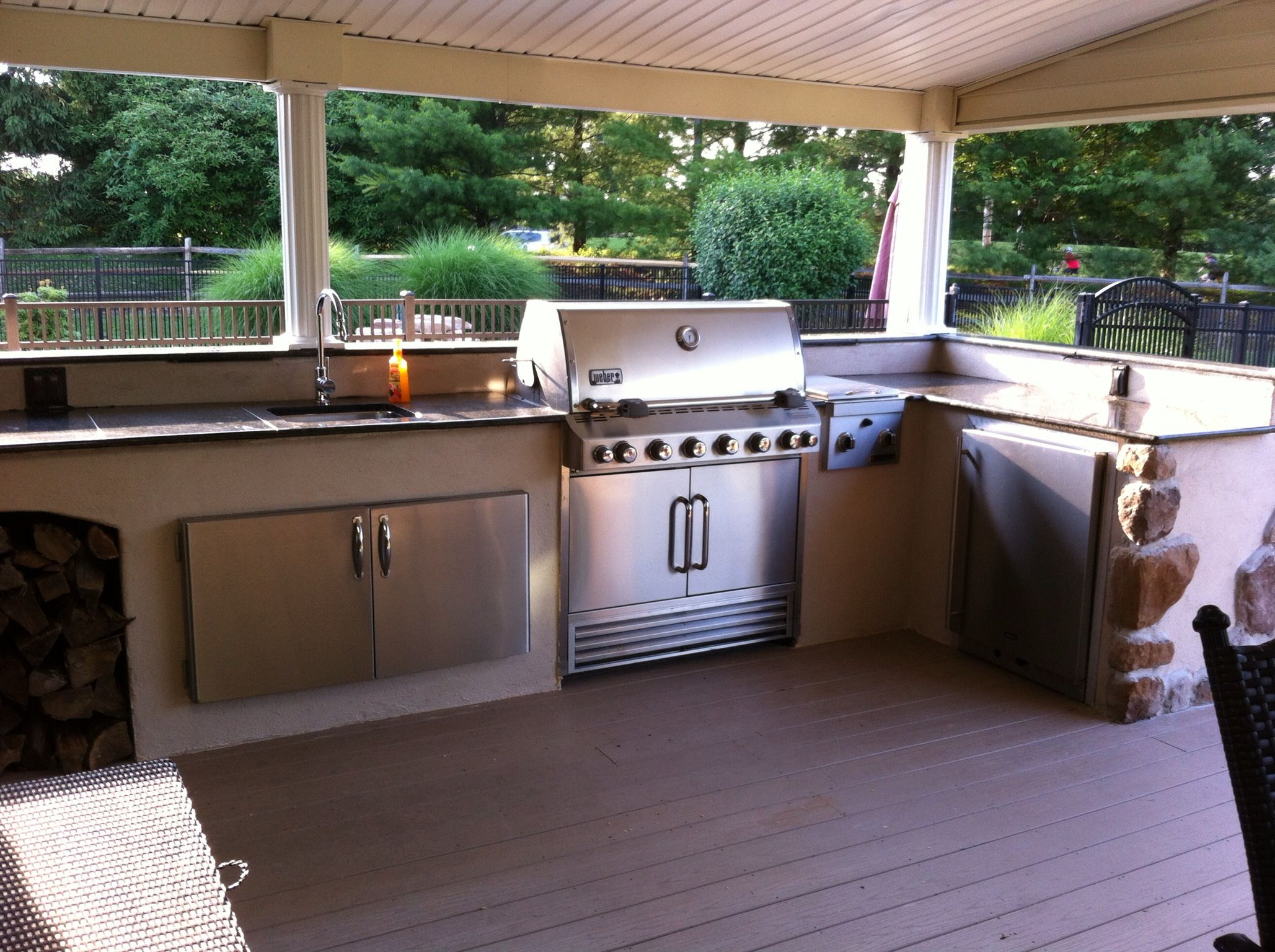 outdoor kitchen ideas on a budget cheap cabinets our bought everything off