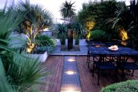 See your garden in a new light | Tropical garden, Decking ...