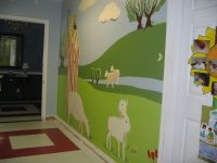 church preschool hallway mural  90% finished | Church ...
