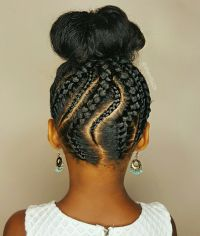 Braided updo- Natural hairstyles for kids | Janelle's ...