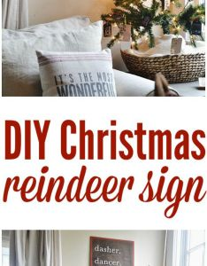Super easy diy reindeer sign see how to make your own for christmas decor also and holidays rh pinterest