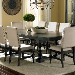 Black Dining Room Chair Makes Into Bed Leona Cottage Rectangular Antique Table With