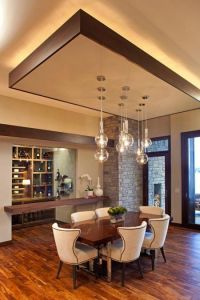 modern dining room with false ceiling designs and ...