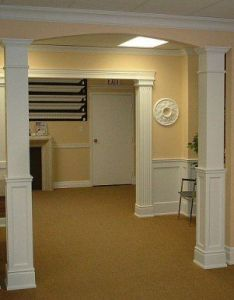 like the look of faux pillars both shown here ideal to separate common wall between our living room and dining also rh pinterest