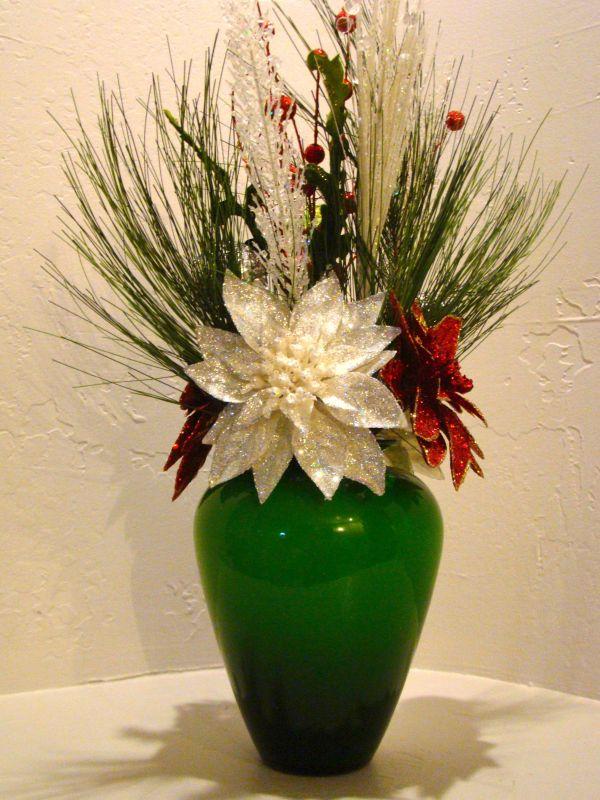 Christmas vase flower arrangements vtwctr christmas silk floral arrangement mightylinksfo