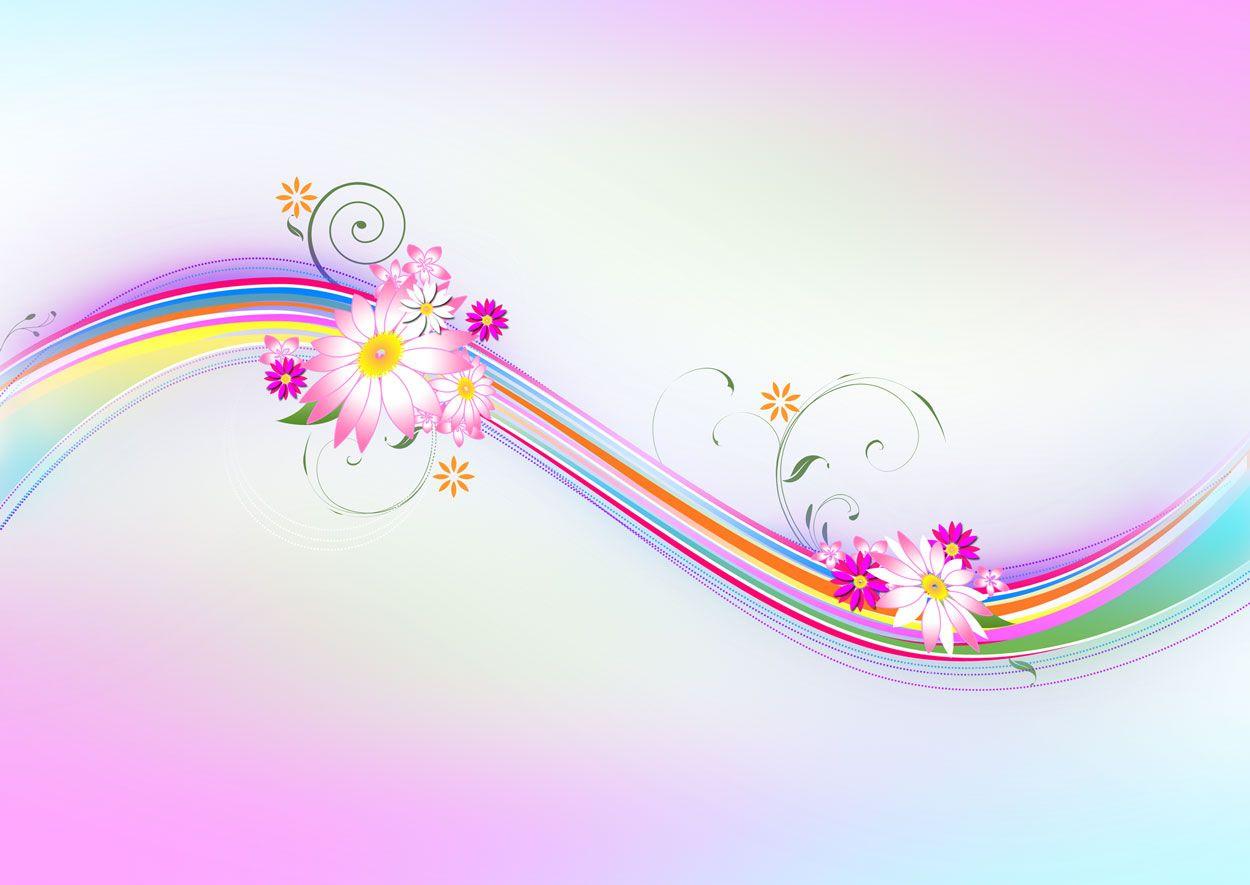 Sample Pink Floral ppt backgrounds