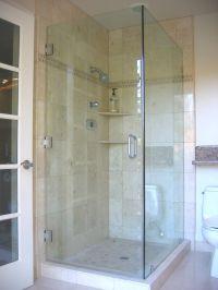 Bathroom, Interesting Design Of Corner Shower Doors Glass ...