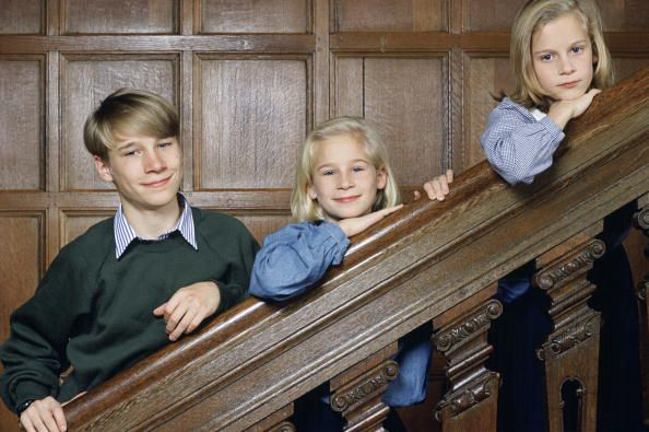 The Earl Of Ulster With His Sisters Lady Davina Windsor