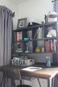 Teen Boy's Small Bedroom {An Update | Industrial desk ...