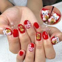 Chinese New Year nails ~ | Nails | Pinterest | Tutorial ...
