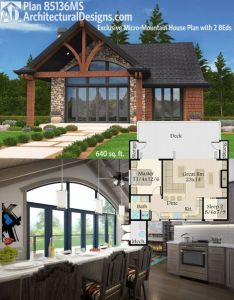 Architectural designs exclusive micro mountain house plan ms gives you beds and square also with rh pinterest