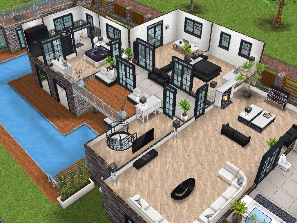 House 77 Level 2 #sims #simsfreeplay #simshousedesign My Sims