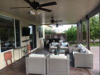 Alumawood Patio Cover. Solid Top. Three Ceiling Fans ...