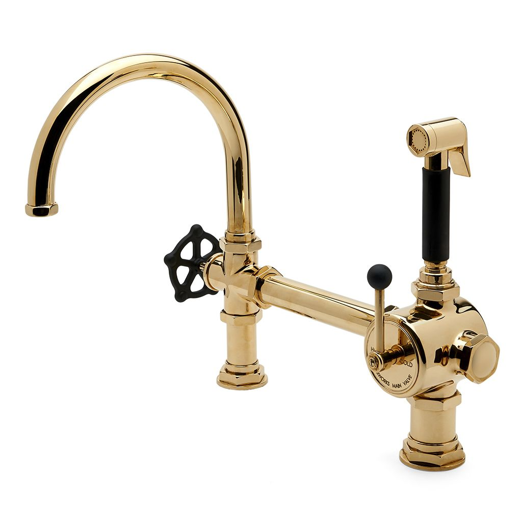 gooseneck kitchen faucet nightmare before christmas waterworks regulator single spout