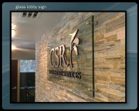 interior signage | Lobby Signs : Etched Glass : Corporate ...