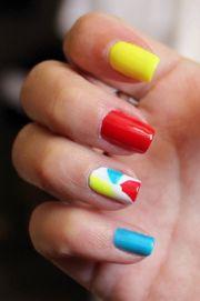 beach ball nails