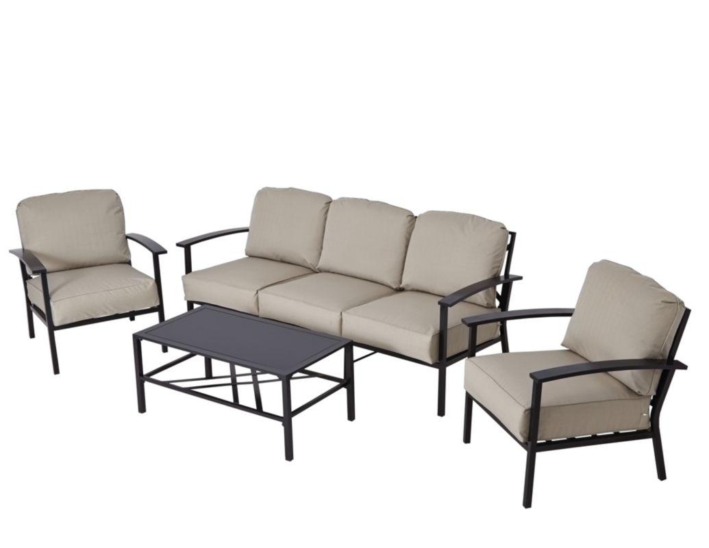 Wyndham 3 Seat Sofa Set - Cream