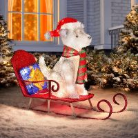 Lighted Dog Christmas Outdoor Decoration