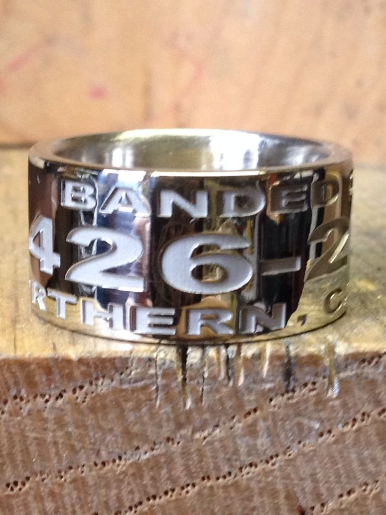14K White Gold Custom Duck Band Ring Wwwduckbandbrand