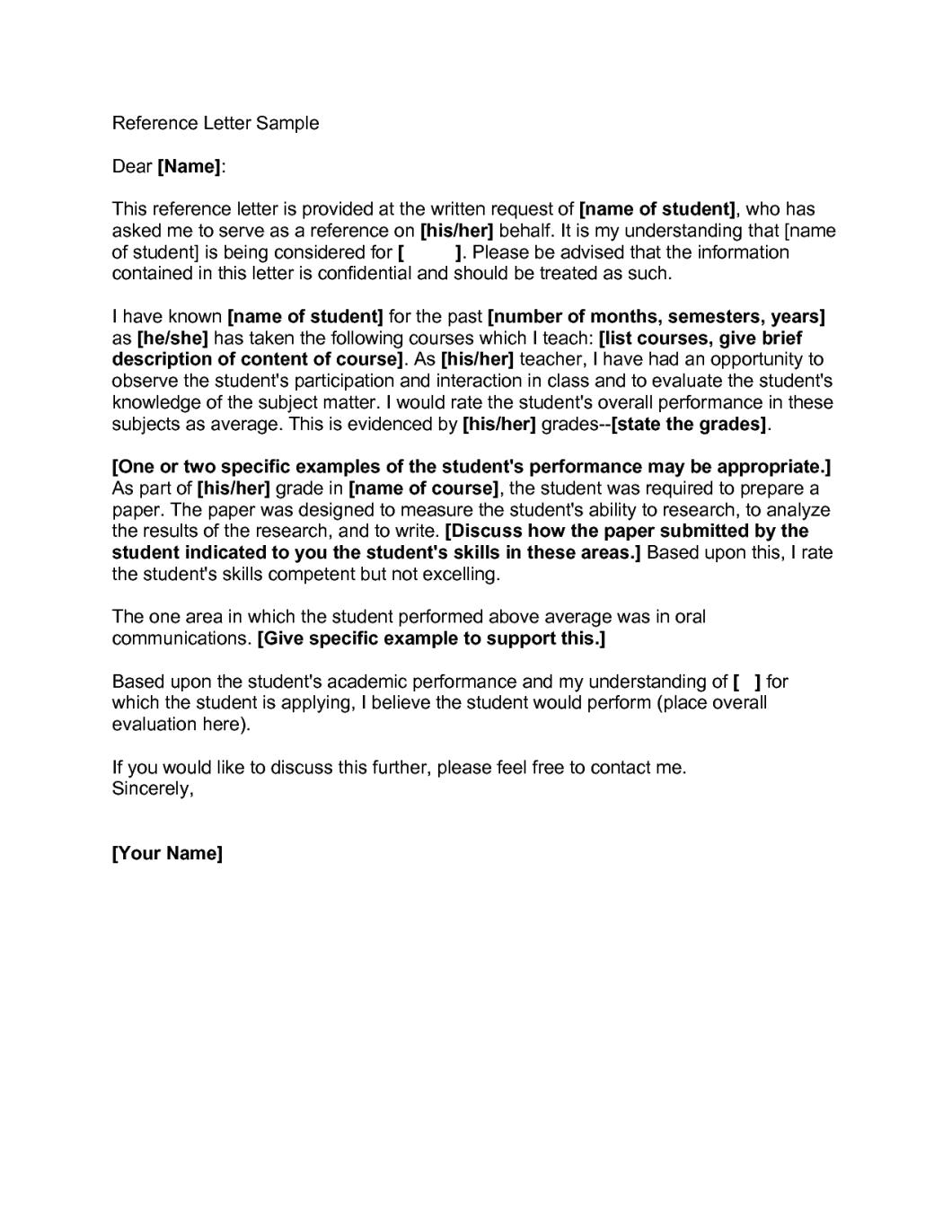 Free Business Reference Letter Sample Inviletter