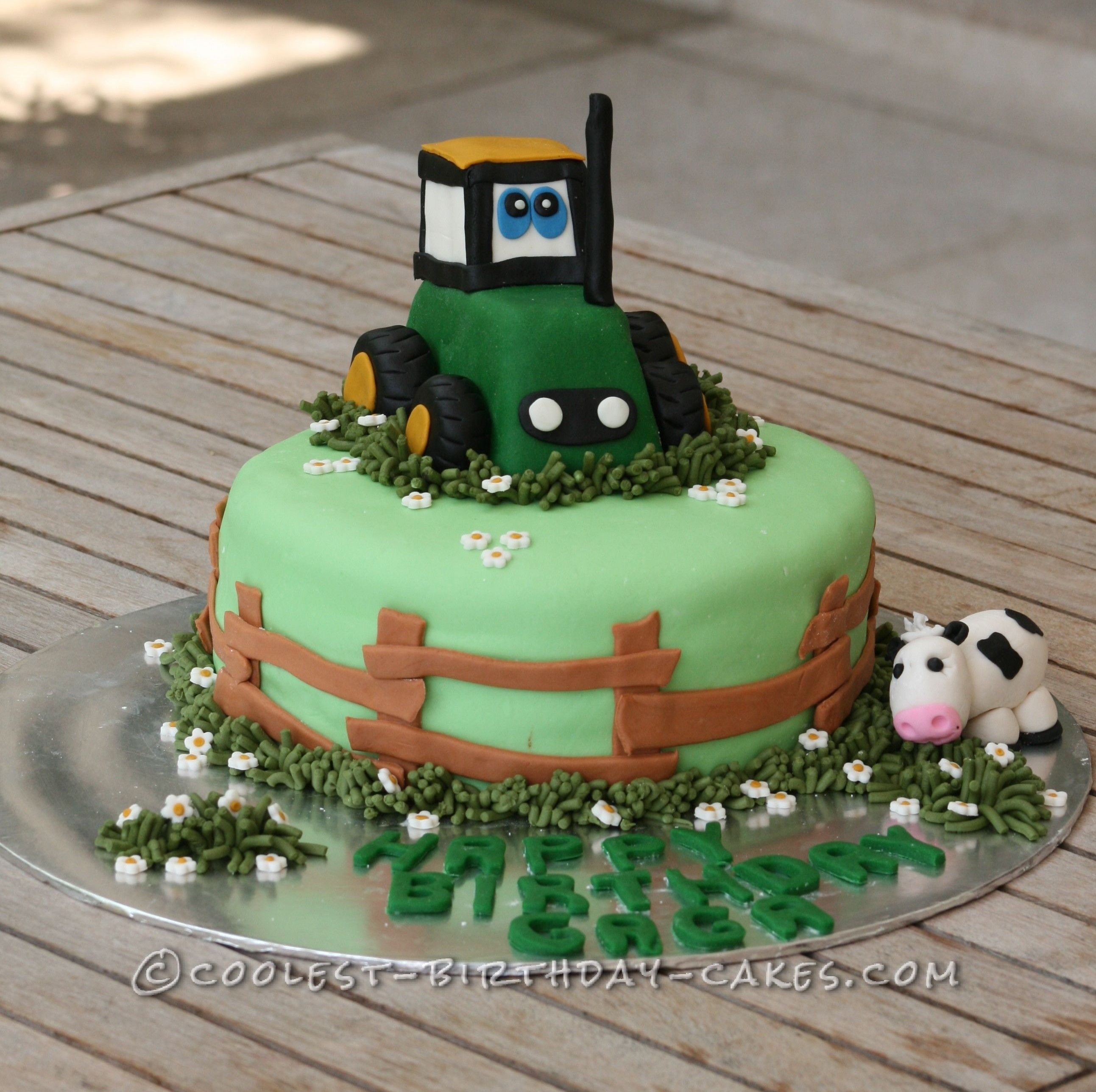 Down On The Farm Tractor Cake