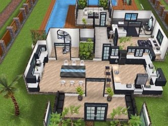 sims freeplay houses story plans mansion two layout floor plan level simsfreeplay ground casas 3d casa decoracion juegos designs modern