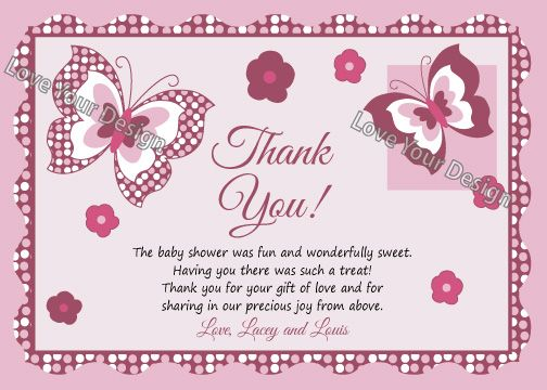 ... Tips And Ideas For Baby Shower Thank You Cards ...