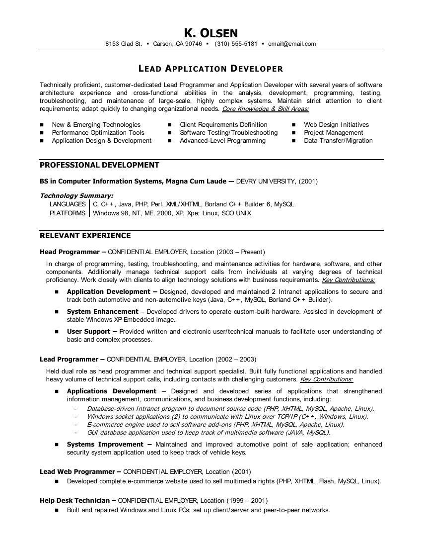 Statistician Resume Cover Letter Resumecareer Info