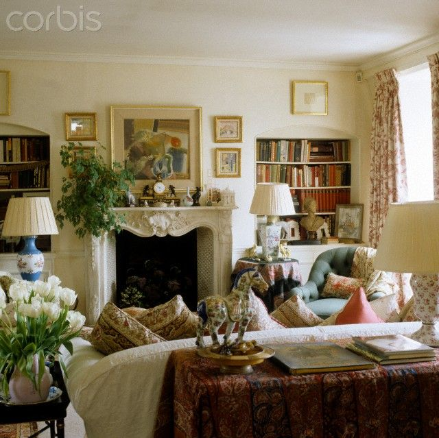 Room of the Day  cosy sitting room with skirted tables
