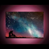 Spray Paint Art - Wall Art - Anniversary Painting - Space ...
