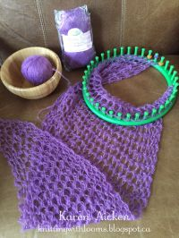 Knitting With Looms: Smaller Pagosa Springs Scarf - WIP ...