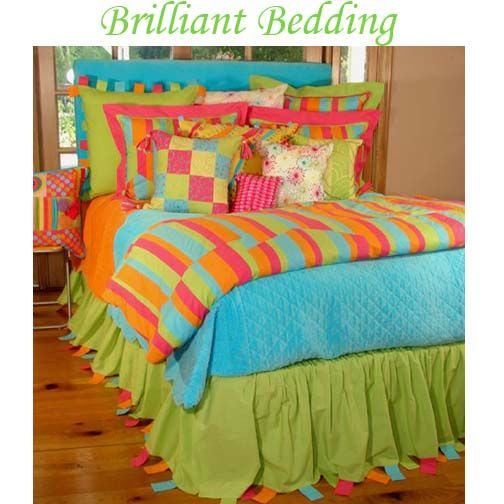 Kids bedding, bed sets for teen girls, brightly colored