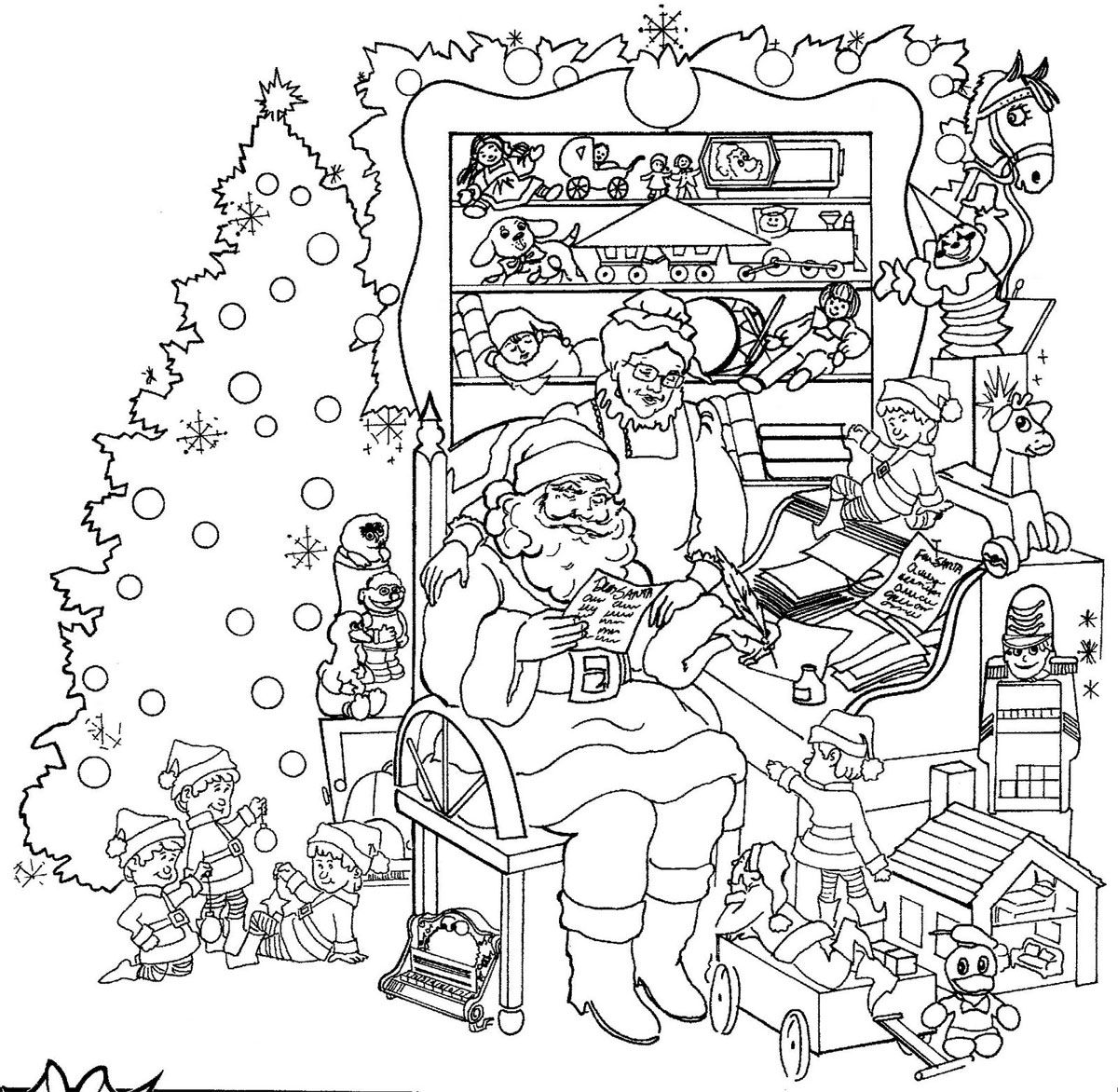 Santa Christmas Picture Coloring 4