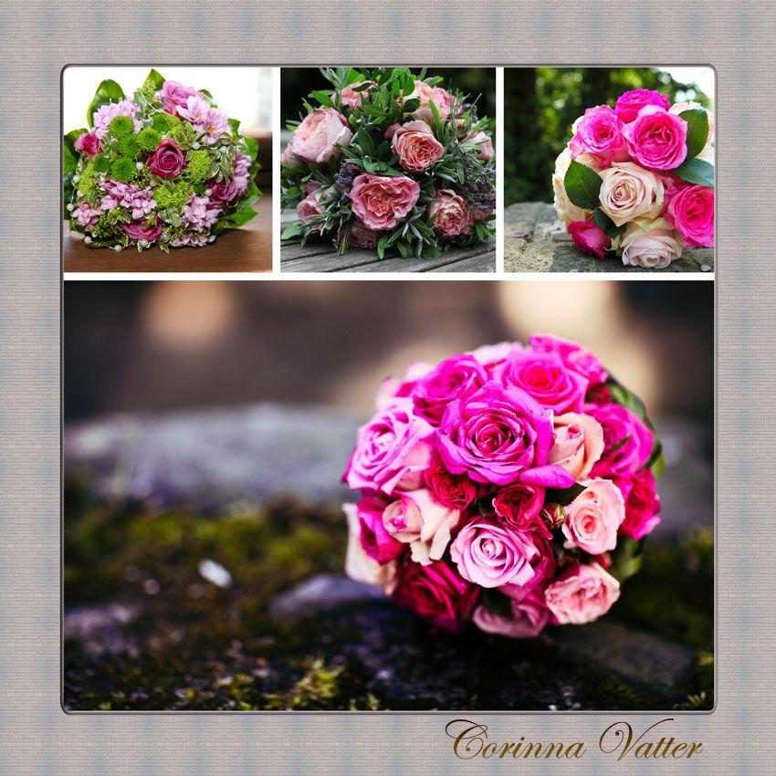 Brautstrauss pink grn  Bridal bouquet pink green  Brautstrusse  Pinterest  Brautstrau