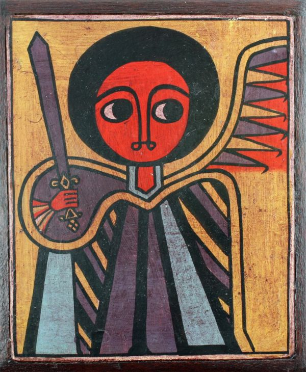 Traditional Ethiopian And African Paintings Folk Art St. George Iconophilie Au