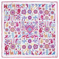 Pineda Covalin White Huichol Spirit, Kerchief | Clothing ...